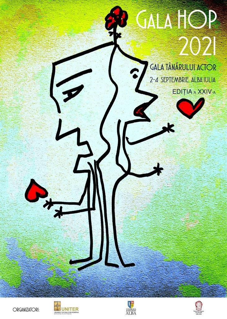 afisul GALEI HOP 2021. (desen de Gigi Căciuleanu)