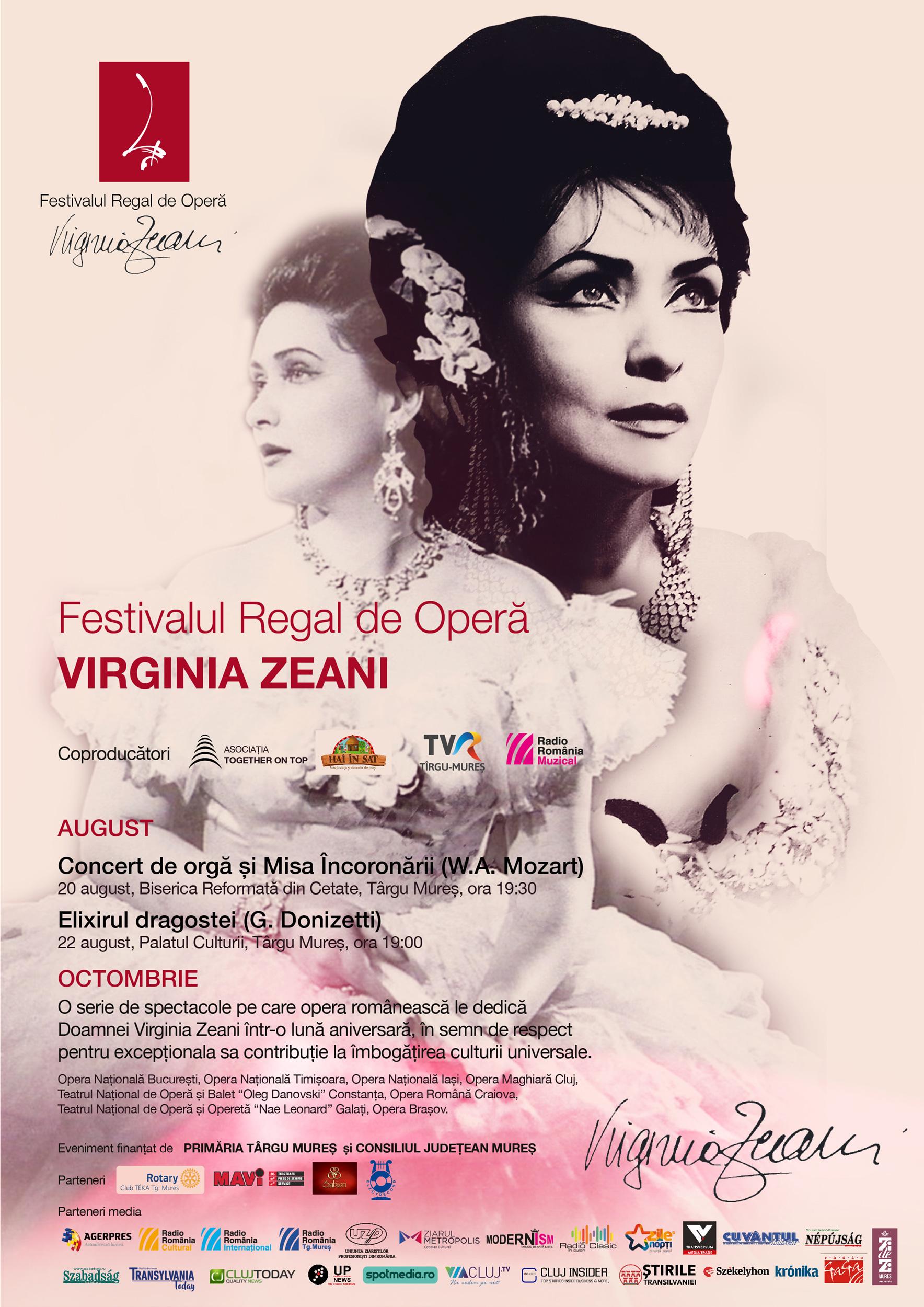 Afis Festivalul Regal de Opera Virginia Zeani